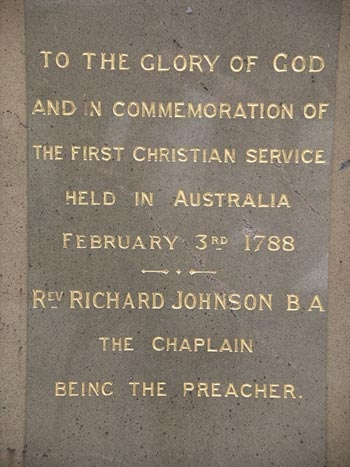 First Christian service - Australia